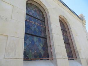 Protection de vitraux d'église