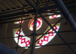 restauration des vitraux de la rosace